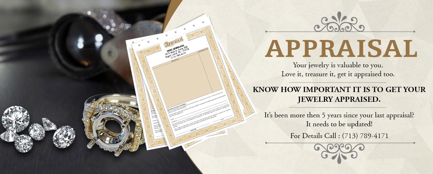 Get Your Jewelry Appraised By A Certified Appraiser At Hinz Jewelers In Sugar Land, TX